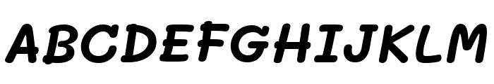 Mali Bold Italic Font UPPERCASE