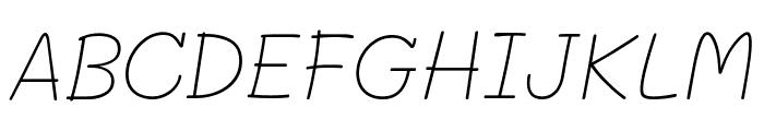 Mali ExtraLight Italic Font UPPERCASE