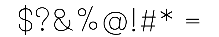 Mali ExtraLight Font OTHER CHARS