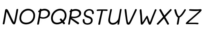 Mali Italic Font UPPERCASE