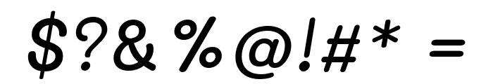 Mali Medium Italic Font OTHER CHARS