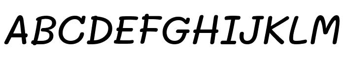 Mali Medium Italic Font UPPERCASE