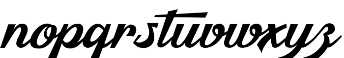 Malibu Babylon Font LOWERCASE