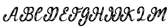 MalindaScript Font UPPERCASE