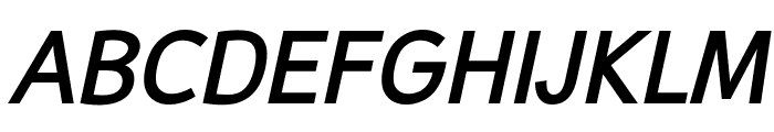 Malter Sans Bold Italic demo Font UPPERCASE