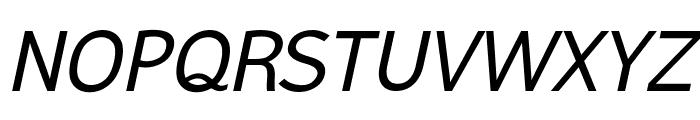 Malter Sans Italic Demo Font UPPERCASE