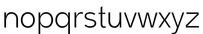 Malter Sans Light Demo Font LOWERCASE