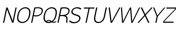 Malter Sans Light Italic Demo Font UPPERCASE