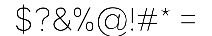 Malter Sans Thin Demo Font OTHER CHARS