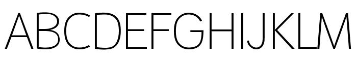 Malter Sans Thin Demo Font UPPERCASE