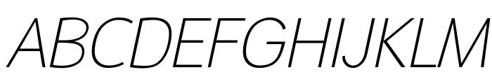 Malter Sans Thin Italic Demo Font UPPERCASE