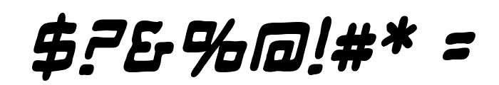 ManMachine BB Bold Italic Font OTHER CHARS