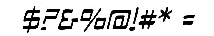 ManMachineBB-Italic Font OTHER CHARS