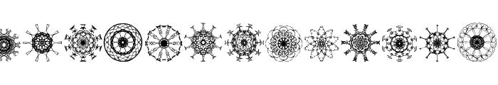 Mandalesque Font LOWERCASE