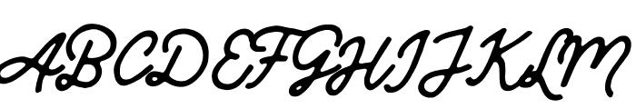 Mandatory-Script Font UPPERCASE