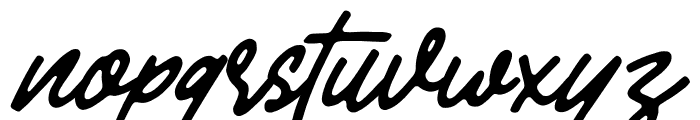 Mandatory-Script Font LOWERCASE