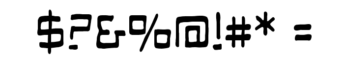 Mandroid BB Font OTHER CHARS