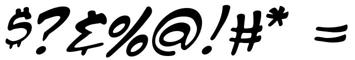 Manga Temple Italic Font OTHER CHARS