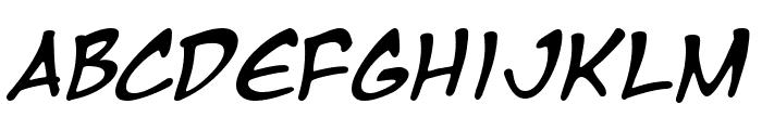 Manga Temple Italic Font LOWERCASE