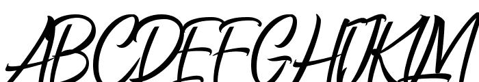 Manhatoones Script Font UPPERCASE