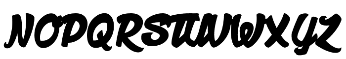 Manhattan Avenue Font UPPERCASE