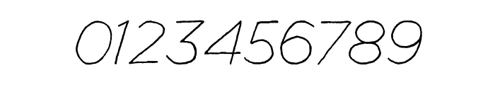 Manhattan Hand Lite Italic Font OTHER CHARS