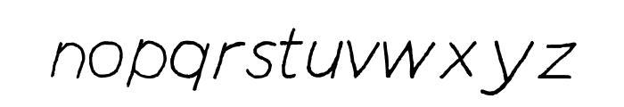 Manhattan Hand Lite Italic Font LOWERCASE