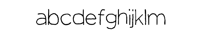 Manhattan Hand Lite Font LOWERCASE