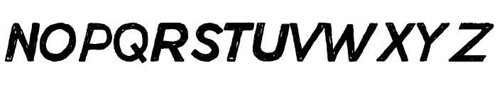 Manhattan Hand Normal Italic Font UPPERCASE