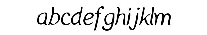 Manic Monday Regular Font LOWERCASE