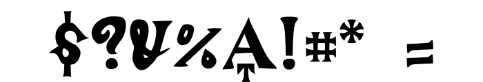 ManjiroScript Font OTHER CHARS