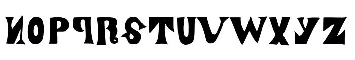 ManjiroScript Font UPPERCASE