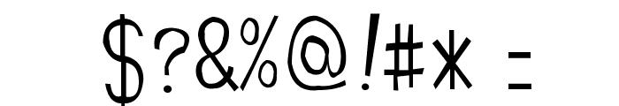 Manjiro'sHw21 Font OTHER CHARS
