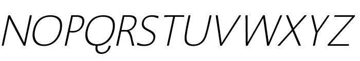 MankSans-Oblique Font UPPERCASE