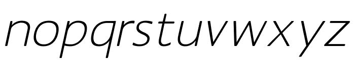 MankSans-Oblique Font LOWERCASE