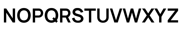 Manrope Bold Font UPPERCASE