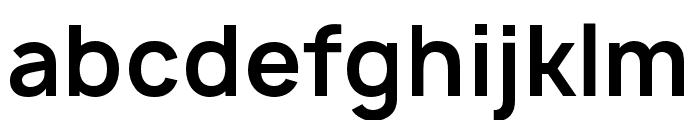 Manrope Bold Font LOWERCASE