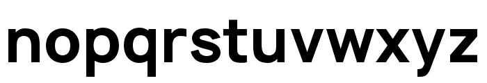 Manrope ExtraBold Font LOWERCASE