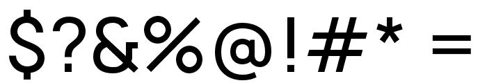 Manrope Medium Font OTHER CHARS