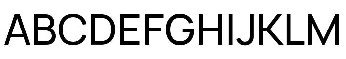 Manrope Medium Font UPPERCASE
