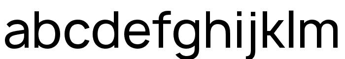 Manrope Medium Font LOWERCASE