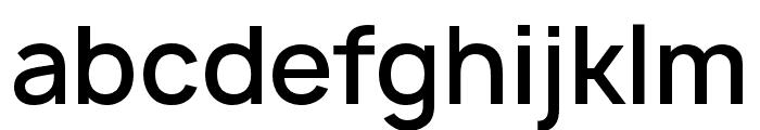 Manrope Semibold Font LOWERCASE