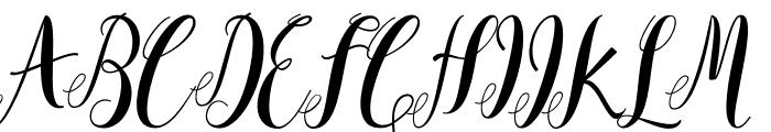 Mantana free Font UPPERCASE