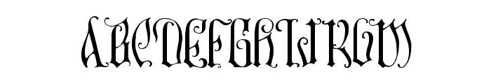 Manticore Font UPPERCASE