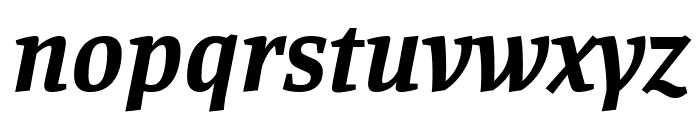 Manuale Bold Italic Font LOWERCASE