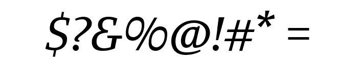 Manuale Italic Font OTHER CHARS