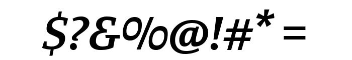 Manuale SemiBold Italic Font OTHER CHARS