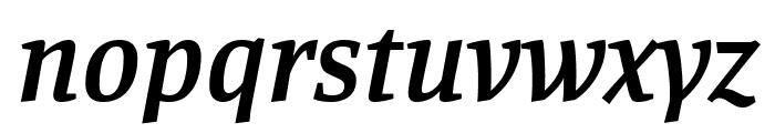 Manuale SemiBold Italic Font LOWERCASE
