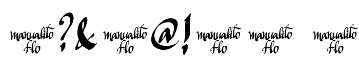 Manualito-Flo Font OTHER CHARS