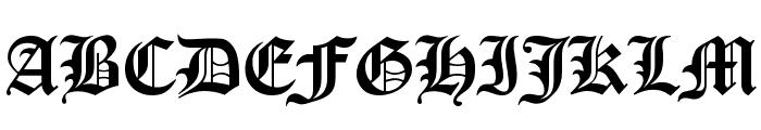 Manuscript Font UPPERCASE